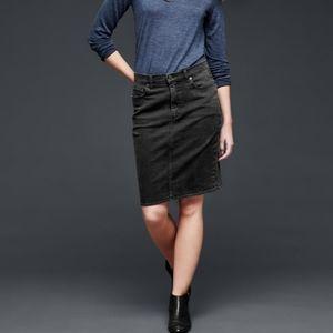 Gap   Blue Dark Rinse Stretch Denim Pencil Skirt
